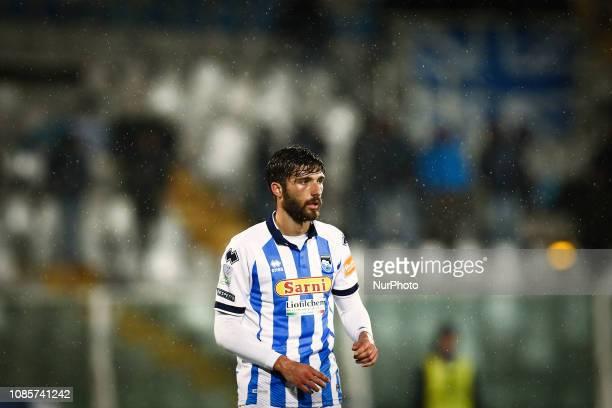 Leonardo Mancuso during the Italian Serie B 2018/2019 match between Pescara Calcio 1936 FC and US Cremonese at Stadio Adriatico quotGiovanni...