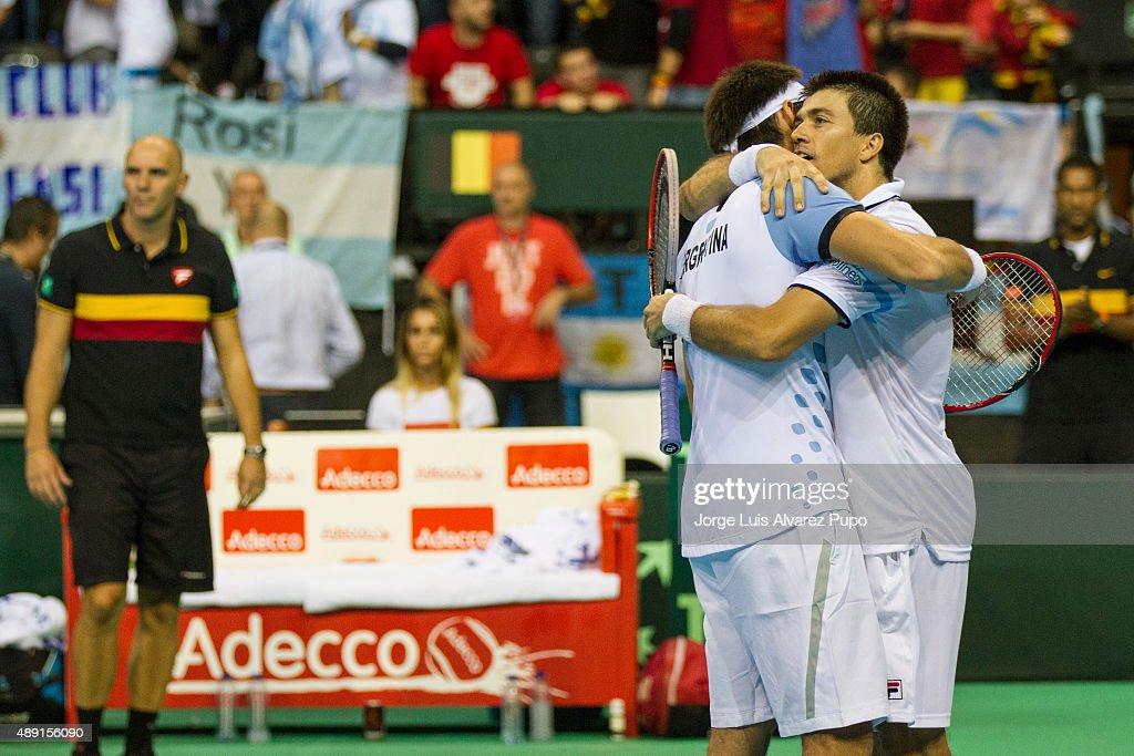 Belgium v Argentina Davis Cup Semi Final 2015 - Day 2 : News Photo