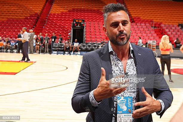 Leonardo Montero an Argentine TV host attends the Miami Heat game against the Oklahoma City Thunder on December 27 2016 at American Airlines Arena in...