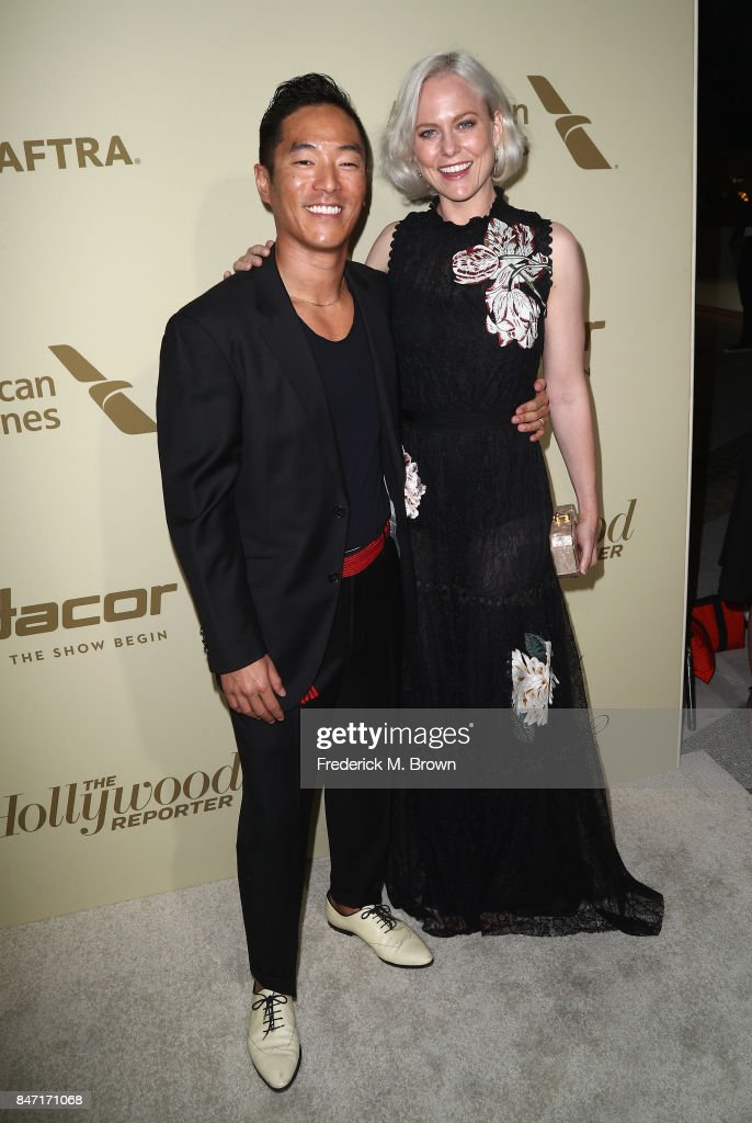 Leonardo Nam (L) and Ingrid Bolso Berdal attend The Hollywood Reporter and SAG-AFTRA Inaugural Emmy Nominees Night presented by American Airlines, Breguet, and Dacor at the Waldorf Astoria Beverly Hills on September 14, 2017 in Beverly Hills, California.