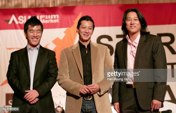 Leonardo Nam and Will Yun Lee and Sung Kang during 11th Pusan International Film Festival Star Summit AsiaAsian Faces In Hollywood at Grand Hotel in...