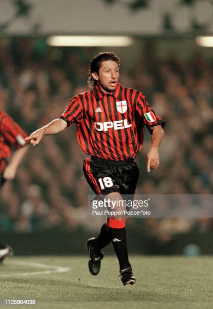 Leonardo of AC Milan in action during the UEFA Champions League Group H match between Chelsea and AC Milan at Stamford Bridge on September 15 1999 in...