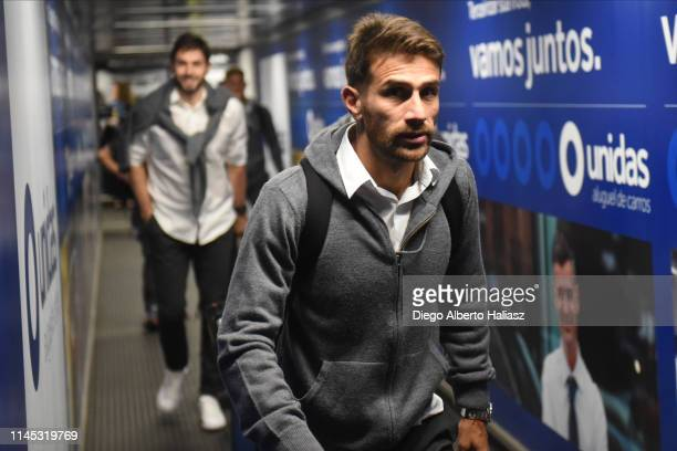 Leonardo Ponzio of River Plate arrives to Brazil May 20 2019 in Curitiba Brazil River Plate will face Atletico Paranaense as part of Recopa CONMEBOL...