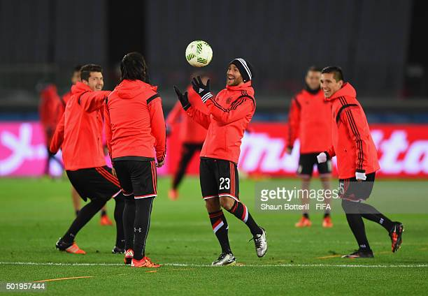 Leonardo Ponzio of River Plate during a training session at International Stadium Yokohama on December 19 2015 in Yokohama Japan