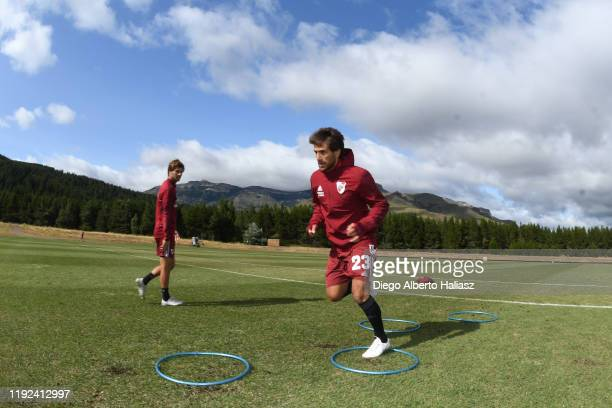 Leonardo Ponzio of River Plate warms up during a preseason training session at Loi Suites Chapelco on January 7 2020 in San Martin de los Andes...