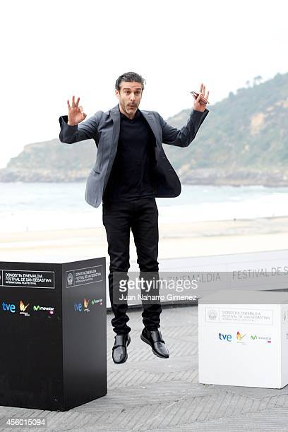 Leonardo Sbaraglia attends 'Aire Libre' photocall during 62nd San Sebastian International Film Festival at the Kursaal Palace on September 24, 2014...