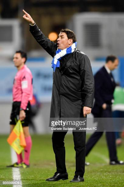 Leonardo Semplici of Spal during the serie A match between Spal and Juventus at Stadio Paolo Mazza on March 17 2018 in Ferrara Italy