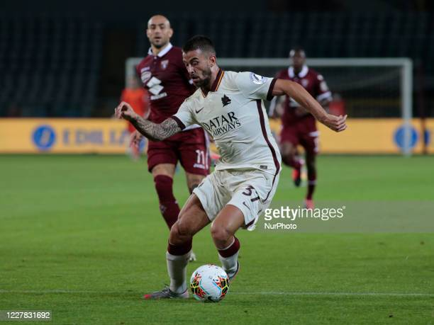 Leonardo Spinazzola during Serie A match between Torino FC and AS Roma at Stadio Olimpico di Torino on July 29, 2020 in Turin, Italy. .