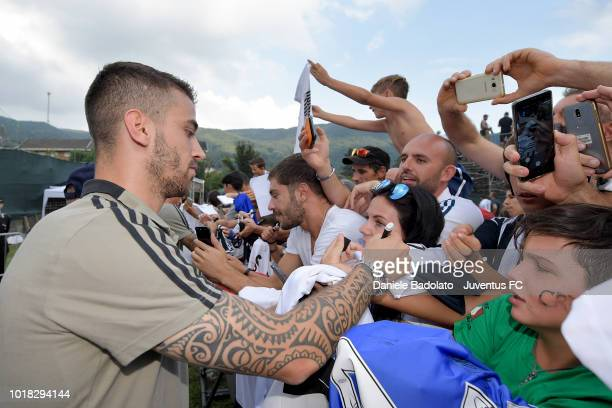 Leonardo Spinazzola during the PreSeason Friendly match between Juventus and Juventus U19 on August 12 2018 in Villar Perosa Italy