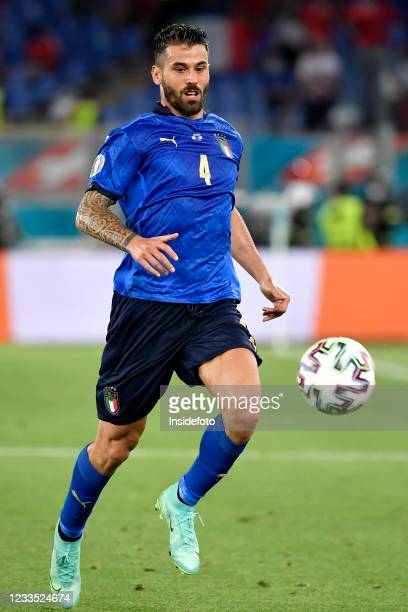 Leonardo Spinazzola of Italy in action during the Uefa Euro 2020 Group A football match between Italy and Switzerland. Italy won 3-0 over Switzerland.