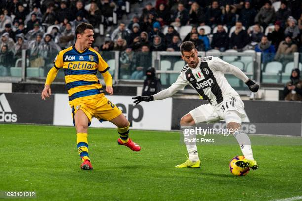 STADIUM TURIN PIEMONTE ITALY Leonardo Spinazzola of Juventus during the Football serie A match Juventus FC vs Parma The final score was 33 at the...