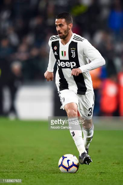 Leonardo Spinazzola of Juventus FC in action during the Serie A football match between Juventus FC and Empoli FC Juventus FC won 10 over Empoli FC