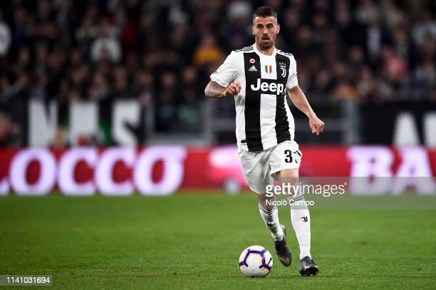 Leonardo Spinazzola of Juventus FC in action during the Serie A football match between Juventus FC and Torino FC The match ended in a 11 tie