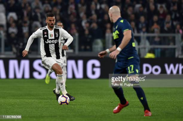 Leonardo Spinazzola of Juventus in action during the Serie A match between Juventus and Udinese at Allianz Stadium on March 08 2019 in Turin Italy