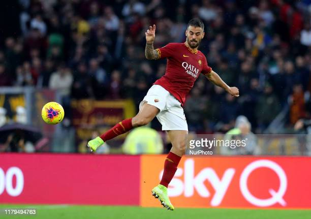 Leonardo Spinazzola of Roma during the Serie A match AS Roma v SSC Napoli at the Olimpico Stadium in Rome Italy on November 2 2019