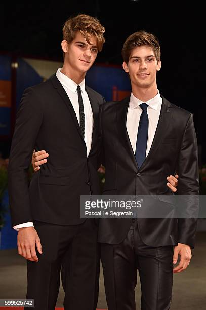 Leonardo Tano and Lorenzo Tano attend the premiere of 'Rocco' during the 73rd Venice Film Festival at Sala Perla on September 5 2016 in Venice Italy