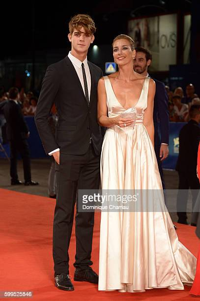 Leonardo Tano and Rosa Caracciolo attend the premiere of 'Rocco' during the 73rd Venice Film Festival at Sala Perla on September 5 2016 in Venice...