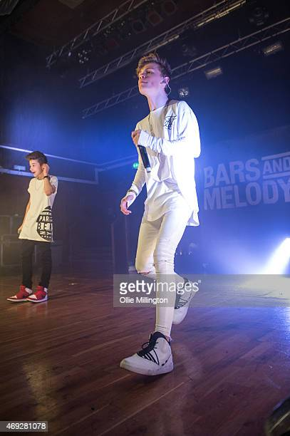 Leondre Devries and Charlie Lenehan of Bars And Melody perform on stage during their totally sold out debut UK Tour at O2 Academy Leicester on April...