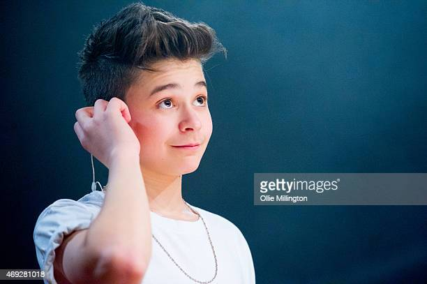Leondre Devries of Bars And Melody performs on stage during their totally sold out debut UK Tour at O2 Academy Leicester on April 10 2015 in...