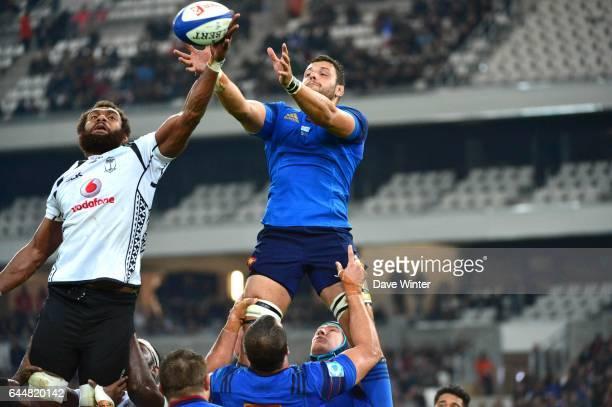 Leone NAKARAWA / Damien CHOULY France / Fidji Test Match Marseille Photo Dave Winter / Icon Sport
