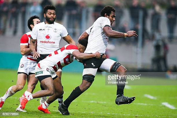 Leone Nakarawa of Fiji during the Test match between Fiji and Japan at Stade de la Rabine on November 26 2016 in Vannes France