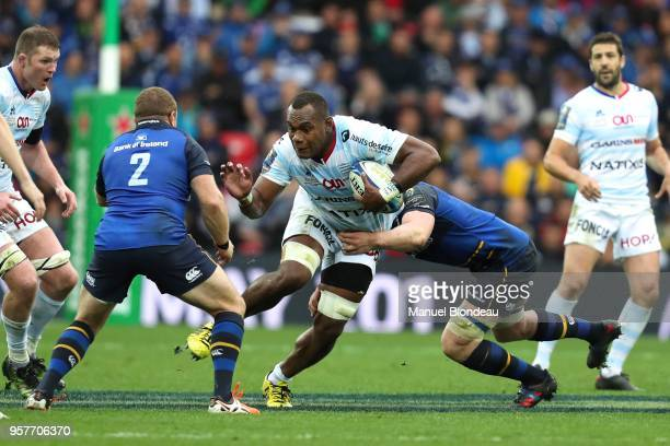 Leone Nakarawa of Racing 92 during the European Champions Cup Final match between Leinster and Racing 92 at San Mames Stadium on May 12 2018 in...
