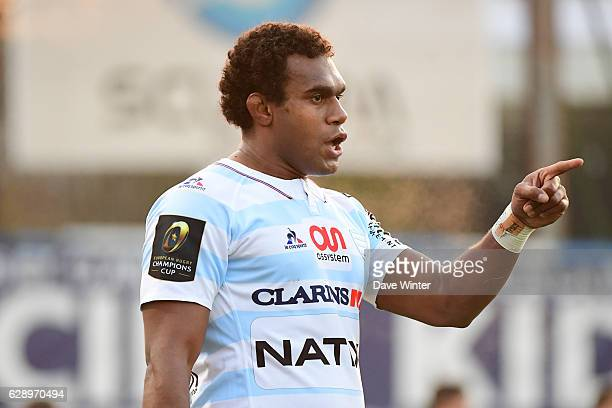 Leone Nakarawa of Racing 92 during the European Champions Cup match between Racing 92 and Glasgow Warriors at Stade Yves Du Manoir on December 10...