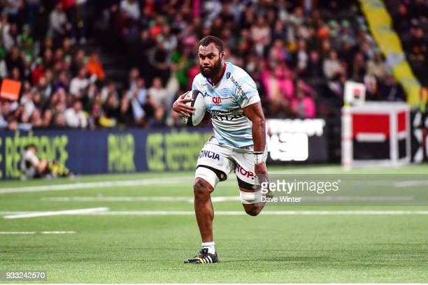 Leone Nakarawa of Racing 92 during the Top 14 match between Racing 92 and Stade Francais at U Arena on March 17 2018 in Nanterre France