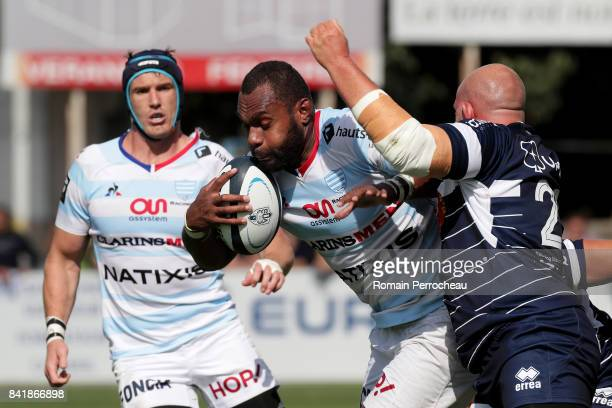 Leone Nakarawa of Racing 92 n action during the Top 14 match between Agen v Racing 92 on September 2 2017 in Agen France