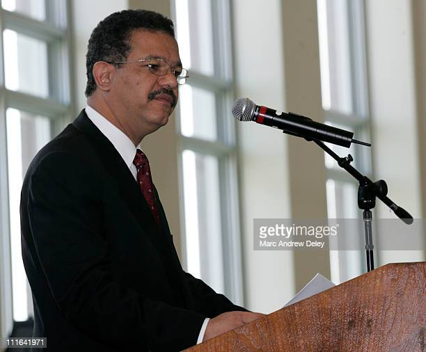 Leonel Fernandez President of the Dominican Republic receives an honorary degree Doctor of Laws during the University of Massachusetts Boston 2005...