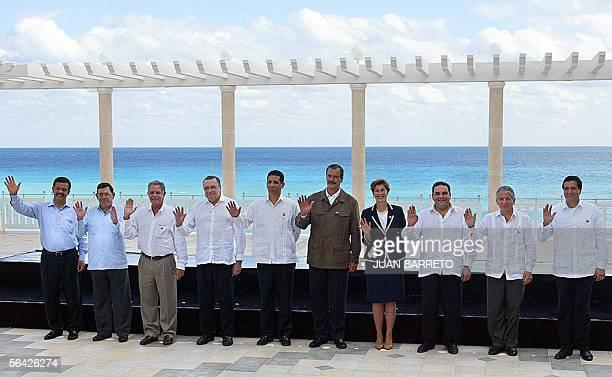 Leonel Fernandez presidente de Republica Dominicana Jose Alfredo Gomez Urcuyo vicepresidente de Nicaragua Oscar Berger presidente de Guatemala Abel...