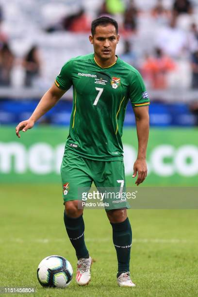 Leonel Justiniano of Bolivia during the Copa America Brazil 2019 group A match between Bolivia and Venezuela at Mineirao Stadium on June 22, 2019 in...