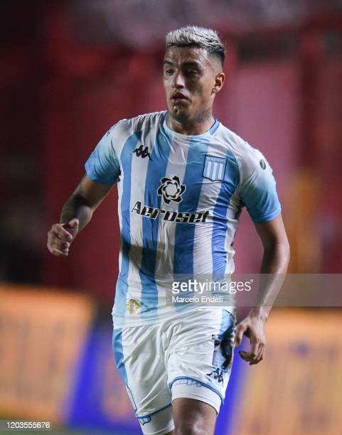 Leonel Miranda of Racing Club looks on during a match between Argentinos Juniors and Racing Club as part of Superliga 2019/20 at Diego Armando...