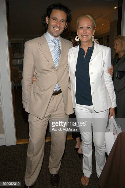 Leonel Piraino and Nina Griscom attend Lenox Hill Neighborhood House Celebrates the 40th Anniversary of the DD Building at DD Building on September...