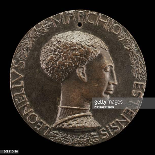 Leonello d'Este, 1407-1450, Marquess of Ferrara 1441 [obverse], circa 1440/1444. Artist Pisanello. .