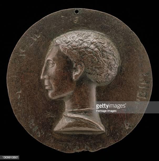 Leonello d'Este, 1407-1450, Marquess of Ferrara 1441 [obverse], circa 1441/1444. Artist Pisanello. .