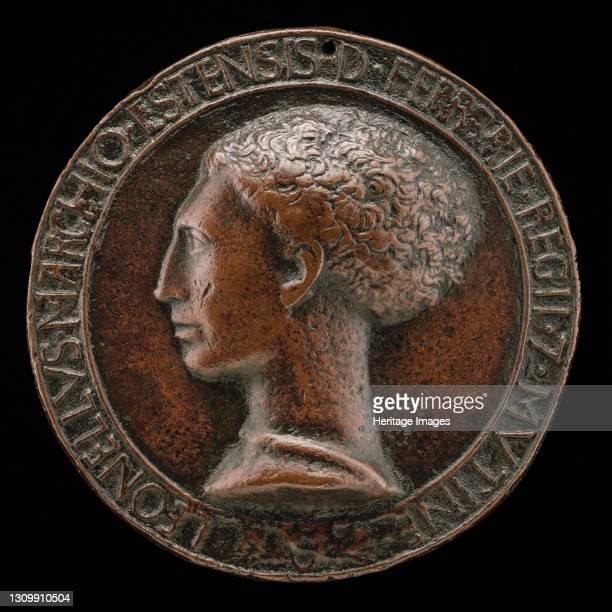 Leonello d'Este, 1407-1450, Marquess of Ferrara 1441 [obverse], circa 1441/1450. Artist Pisanello. .