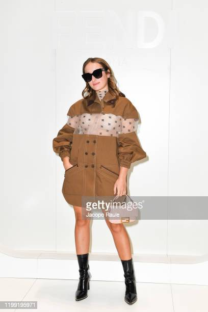 Leonetta Fendi is seen at the Fendi fashion show on January 13, 2020 in Milan, Italy.