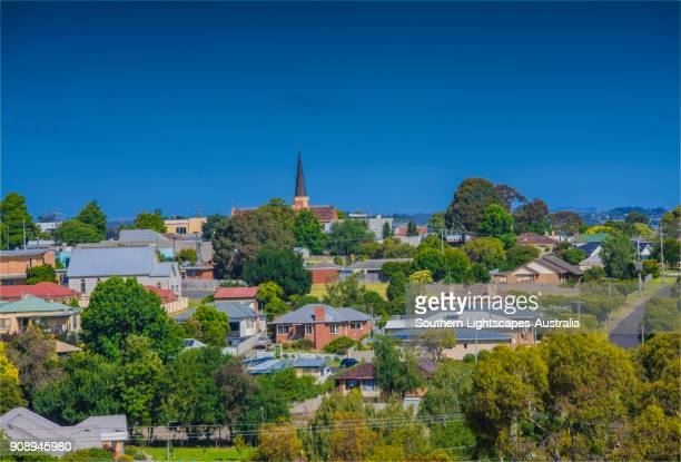 leongatha township, south gippsland, victoria, australia - town stock pictures, royalty-free photos & images