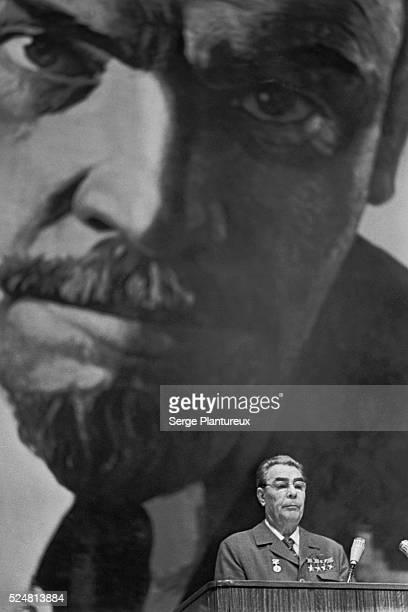Leonid Brezhnev at Podium