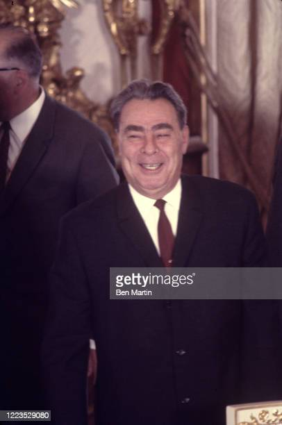 Leonid Breznev at the signing of the Treaty of Moscow, August 12, 1970.