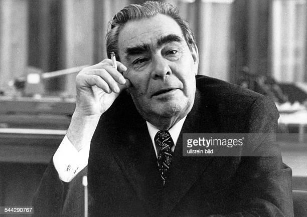 Leonid Ilich Brezhnew secretarygeneral of communist party Soviet Union 1975