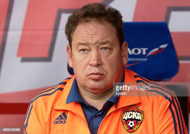 Leonid Slutskiy head coach of PFC CSKA Moscow during the Russian Premier League match between PFC CSKA Moscow and FC Ural Sverdlovsk Oblast at Khimki...