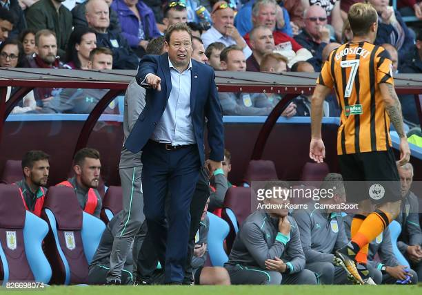 Leonid Slutsky Aston Villa Manager during the Sky Bet Championship match between Aston Villa and Hull City at Villa Park on August 5 2017 in...