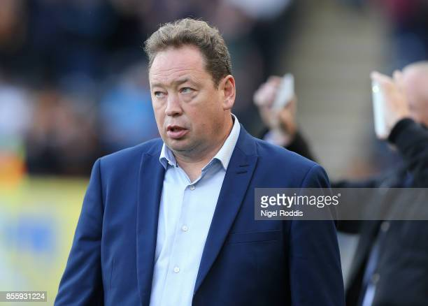 Leonid Slutsky manager of Hull City during the Sky Bet Championship match between Hull City and Birmingham City at KCOM Stadium on September 30 2017...
