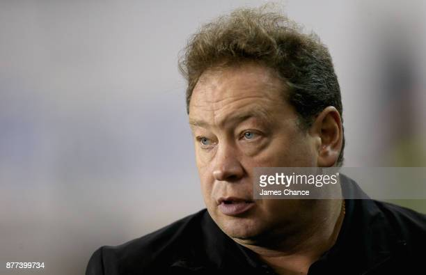 Leonid Slutsky Manager of Hull City looks on prior to the Sky Bet Championship match between Millwall and Hull City at The Den on November 21 2017 in...