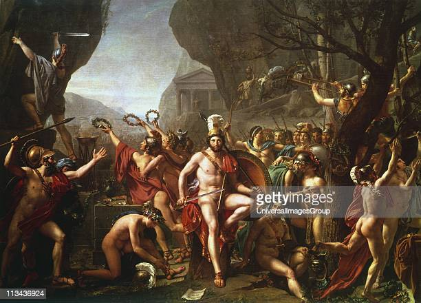 Leonidas at Thermopylae' Leonidas king of Sparta from 491 BC Held pass at Thermopylae for 3 days with 300 Spartans and 700 Thespians against the...