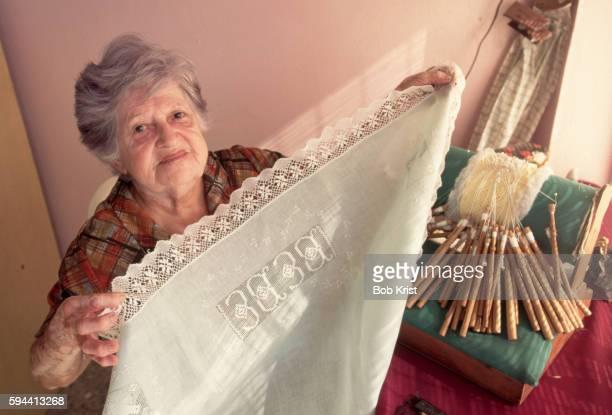 Leonides Lopez Making Lace