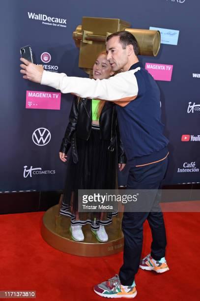 Leonie and Kai Pflaume attend the YouTube Goldene Kamera Digital Awards at Kraftwerk on September 26 2019 in Berlin Germany