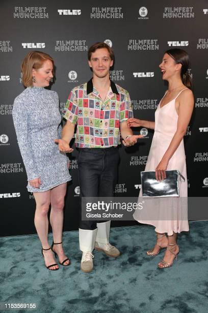 Leonie Benesch Jonas Nay and Aylin Tezel during Der Club der singenden Metzger premiere at the Munich Film Festival 2019 at Astor Lounge/ Arri Kino...
